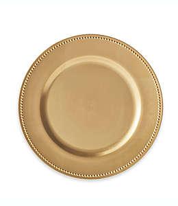 Platos base decorativos en oro, Set de 6