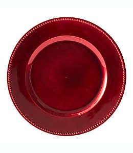 Plato base decorativo en rojo
