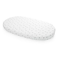 image of Stokke® Sleepi™ Bear Face Print Fitted Sheet