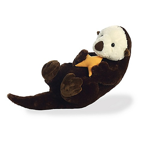 aurora sea otter plush toy in brown buybuy baby