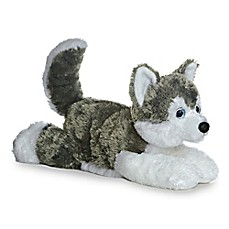 image of Aurora® Shadow Husky Plush Toy in Grey