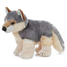 image of Aurora World® Flopsies Wily Wolf Plush Toy in Grey/Tan