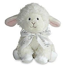 image of Aurora® Blessings Lamb Musical Plush Toy in White