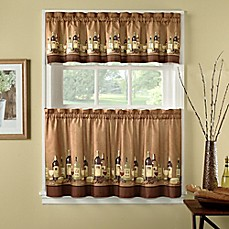 Wines Kitchen Window Curtain Tiers And Valance