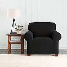 image of Sure Fit® Pixel Corduroy Box Chair Cover Collection