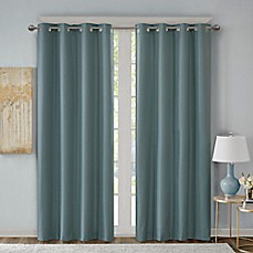 image of Emmer Jacquard Solid Grommet Top Room Darkening Window Curtain Panel