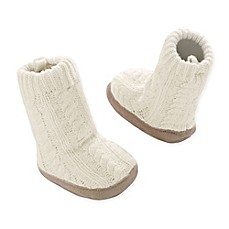 image of Goldbug Cable Knit Slipper Socks in Ivory