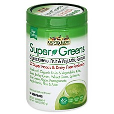 Image Of Country Farms 9.88 Oz. Super Greens Organic Drink Mix In Natural  Flavor