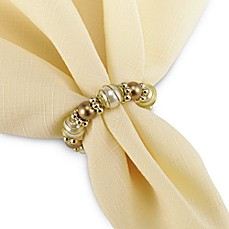 Bed Bath Beyond Beads And Pearl Napkin Ring Silver