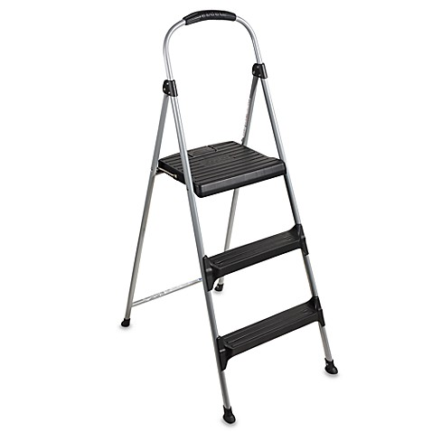 Coscou0026reg; 3-Step Signature Premium Folding Step Stool  sc 1 st  Bed Bath u0026 Beyond : cosco steel step stool 3 step - islam-shia.org