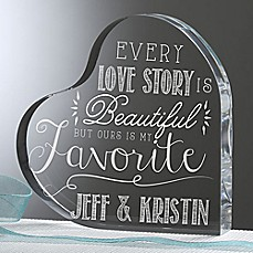 image of Love Quotes Heart Keepsake
