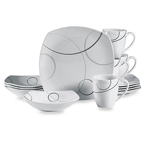 Mikasau0026reg; Geometric Circles 16-Piece Dinnerware Set  sc 1 st  Bed Bath u0026 Beyond & Mikasa® Geometric Circles 16-Piece Dinnerware Set - Bed Bath u0026 Beyond