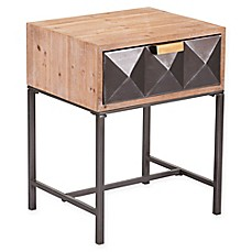 zuo antique 1 drawer end table in black - Glass End Tables Ikea