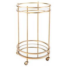 image of Zuo® Round Bar Cart in Gold