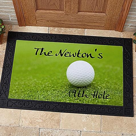 19th Hole Golf Door Mat