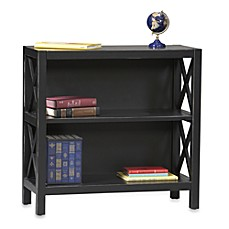 image of Anna 2-Shelf Bookcase in Black