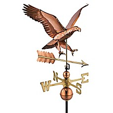 image of Good Directions Attack Eagle with Arrow Weathervane in Copper