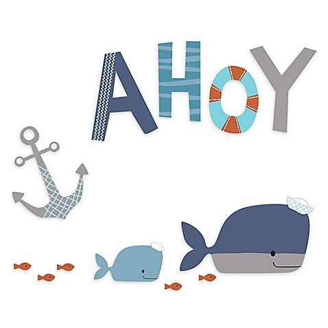 Lambs Amp Ivy 174 Ahoy Wall Decals Bed Bath Amp Beyond