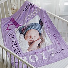 Personalized baby gifts personalized gifts for boys girls image of all about baby fleece photo blanket negle Image collections