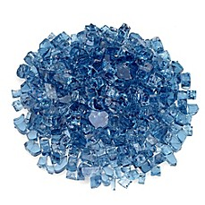image of American Fireglass 0.5-Inch Reflective Fire Glass in Pacific Blue