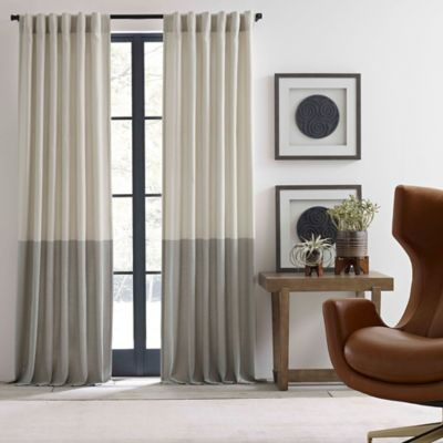 image of ED Ellen DeGeneres Shadow Rod Pocket/Back Tab Window Curtain Panel