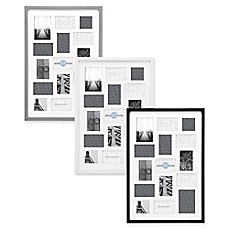 image of gallery 15 opening 20 inch x 30 inch wood collage frame - Multiple Picture Frames