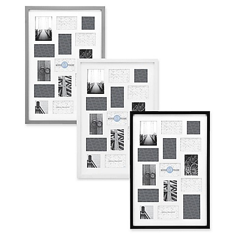 Gallery 15-Opening 20-Inch x 30-Inch Wood Collage Frame - Bed Bath ...