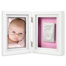image of Pearhead® Babyprints 4-Inch x 6-Inch Desk Photo Frame in White