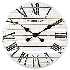 image of FirsTime® Shiplap Wall Clock in White