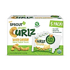 image of Sprout® 5-Count White Cheddar Organic Curls™ Baked Toddler Snack