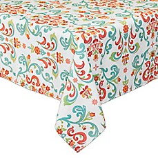image of Odesa Indoor/Outdoor Tablecloth with Umbrella Hole