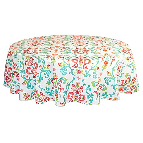 Buy Odesa 60-Inch x 84-Inch Oval Tablecloth from Bed Bath ...