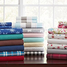 image of Pointehaven 175 GSM Flannel Sheet Set