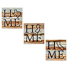 Home State Reclaimed Wood Wall Art