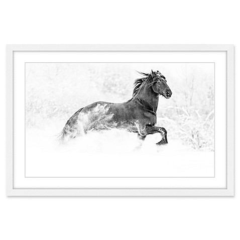 Marmont Hill Horse Excitement Framed Wall Art - Bed Bath & Beyond