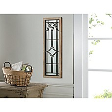 Art Wood Metal Gated Window Mirror