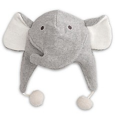 57952f77fb8 Elegant Baby® Size 0-12M Elephant Aviator Hat in Grey