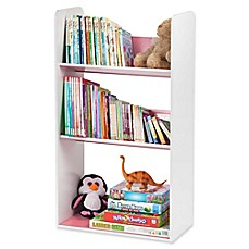 image of IRIS® Children's Angled Bookcase in White and Pink