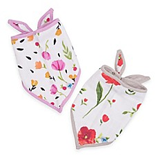 image of Little Unicorn™ 2-Pack Cotton Muslin Bandana Bib