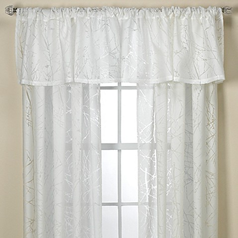 branchbrook sheer window curtain panel and valance - bed bath & beyond