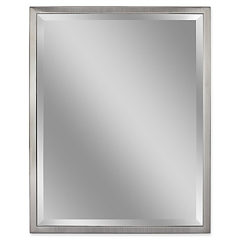 Buy Metal 24 Inch X 30 Inch Rectangular Mirror In Brushed
