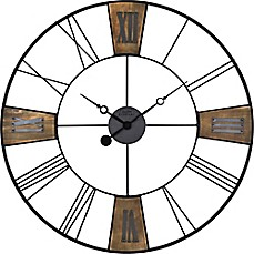 Image Of FirsTime® Reclaimed Plaques Wall Clock In Black/Wood