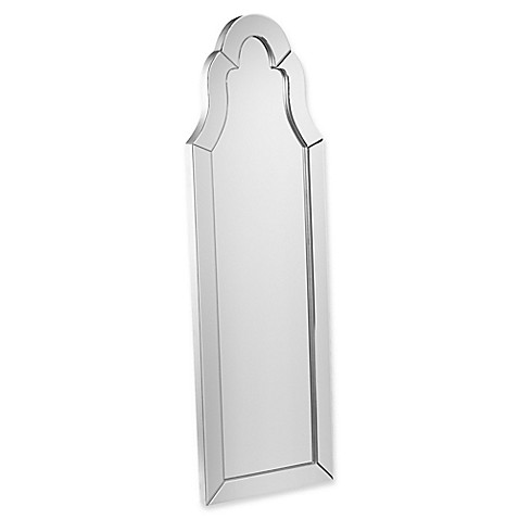 Southern Enterprises Dionne Full Length Floor Mirror Mount Wall In Matte Silver
