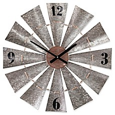 image of Southern Enterprises Brevan Windmill Wall Clock