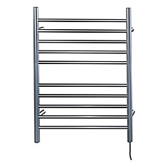 Image Of Amba Radiant Wall Mount Plug In Towel Warmer With Ten Straight Bars