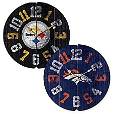 image of NFL Vintage Round Wall Clock Collection
