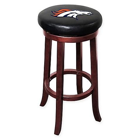 Nfl denver broncos wooden bar stool bed bath beyond - Barstools denver ...