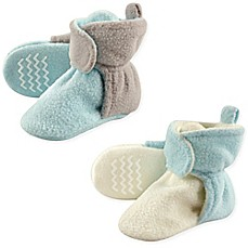image of Hudson Baby® 2-Pack Fleece Lined Scooties in Mint/Grey