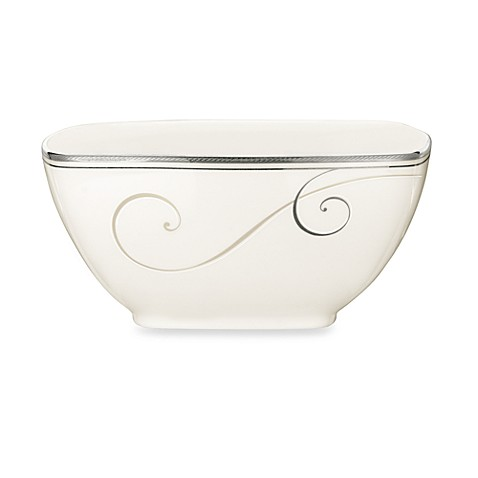 Noritake® Platinum Wave Medium Square Bowl