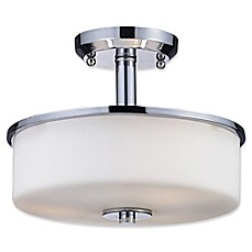 image of Ivana Mid-Century 3-Light Semi-Flush Mount Fixture in Chrome